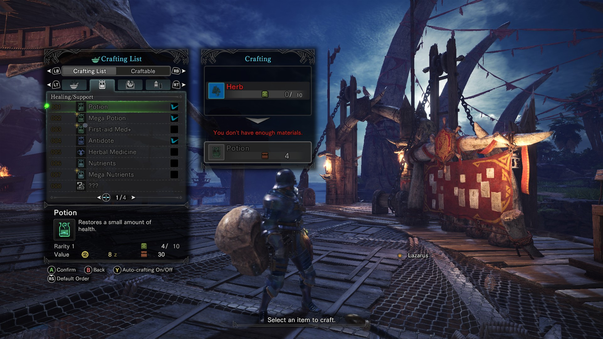 how to get first aid med monster hunter world